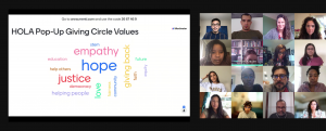 Google Pop-Up Giving Circle discusses values to guide group during 60-minute experience